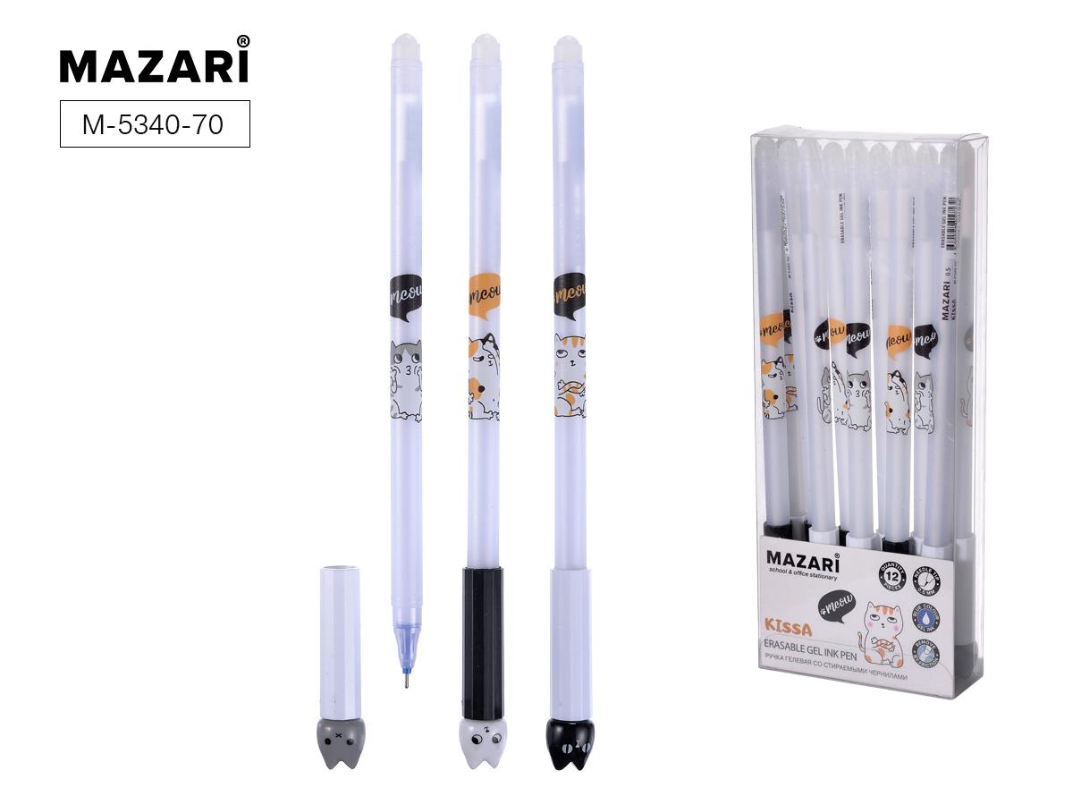 Ручка коррект. гел. Mazari Kissa 0,5мм синяя