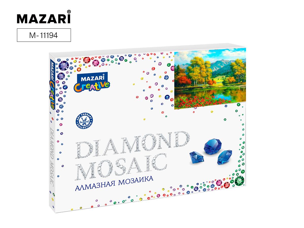 Алмазная мозаика 40*50см Пейзаж с цветами