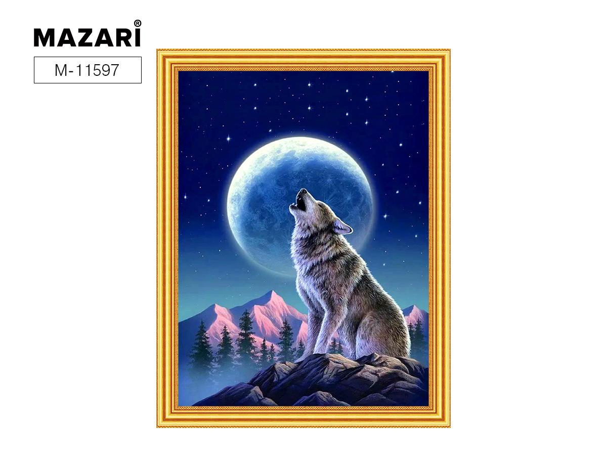 Алмазная мозаика и картина по номерам 30*40см Волк