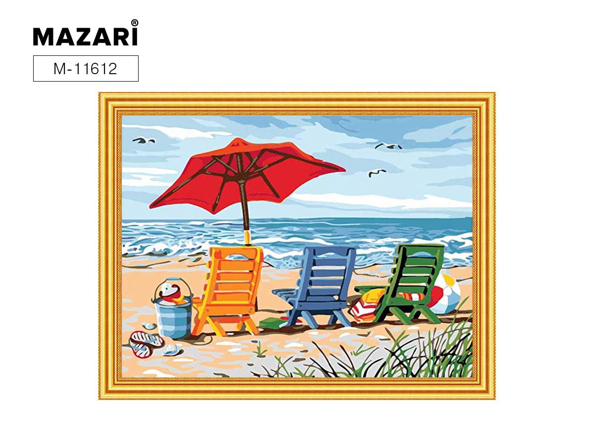 Алмазная мозаика и картина по номерам 30*40см Пляж