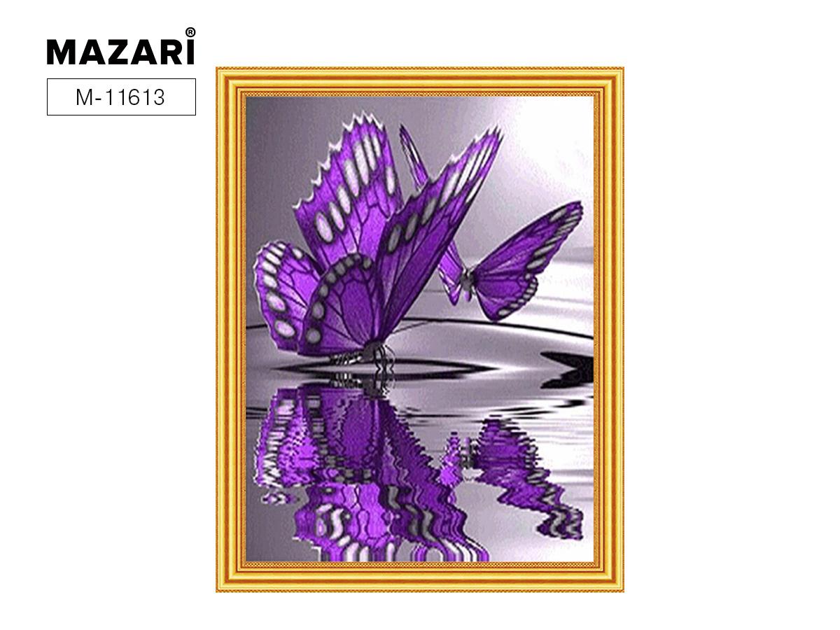 Алмазная мозаика и картина по номерам 30*40см Сиреневые бабочки