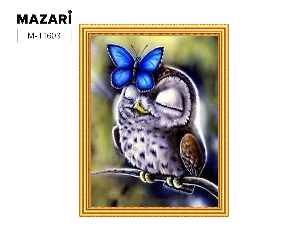 Алмазная мозаика и картина по номерам 30*40см Сова с бабочкой