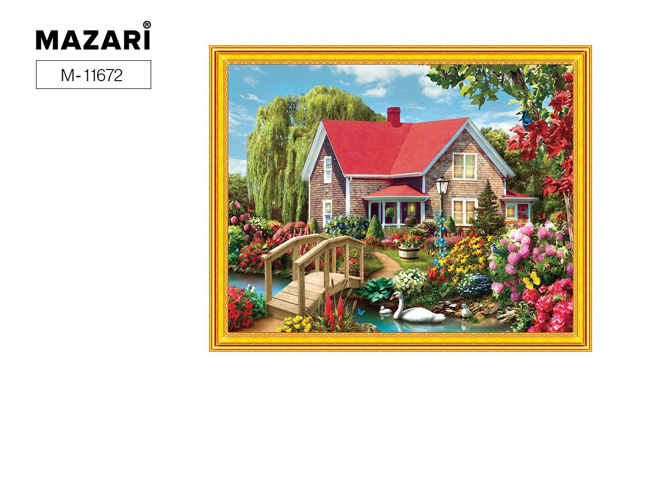 Алмазная мозаика и картина по номерам 40*50см Дом в цветах