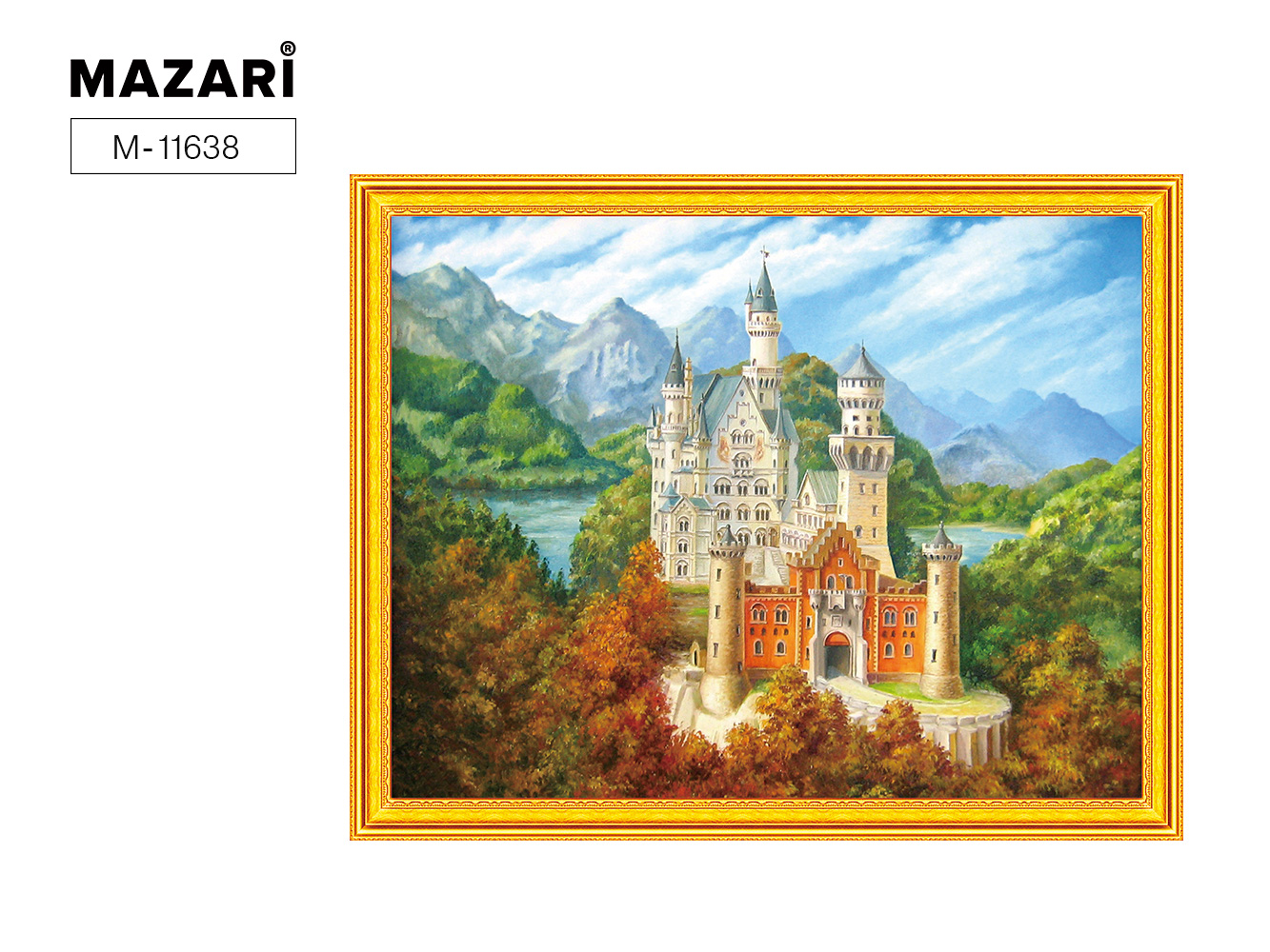 Алмазная мозаика и картина по номерам 40*50см Замок в горах