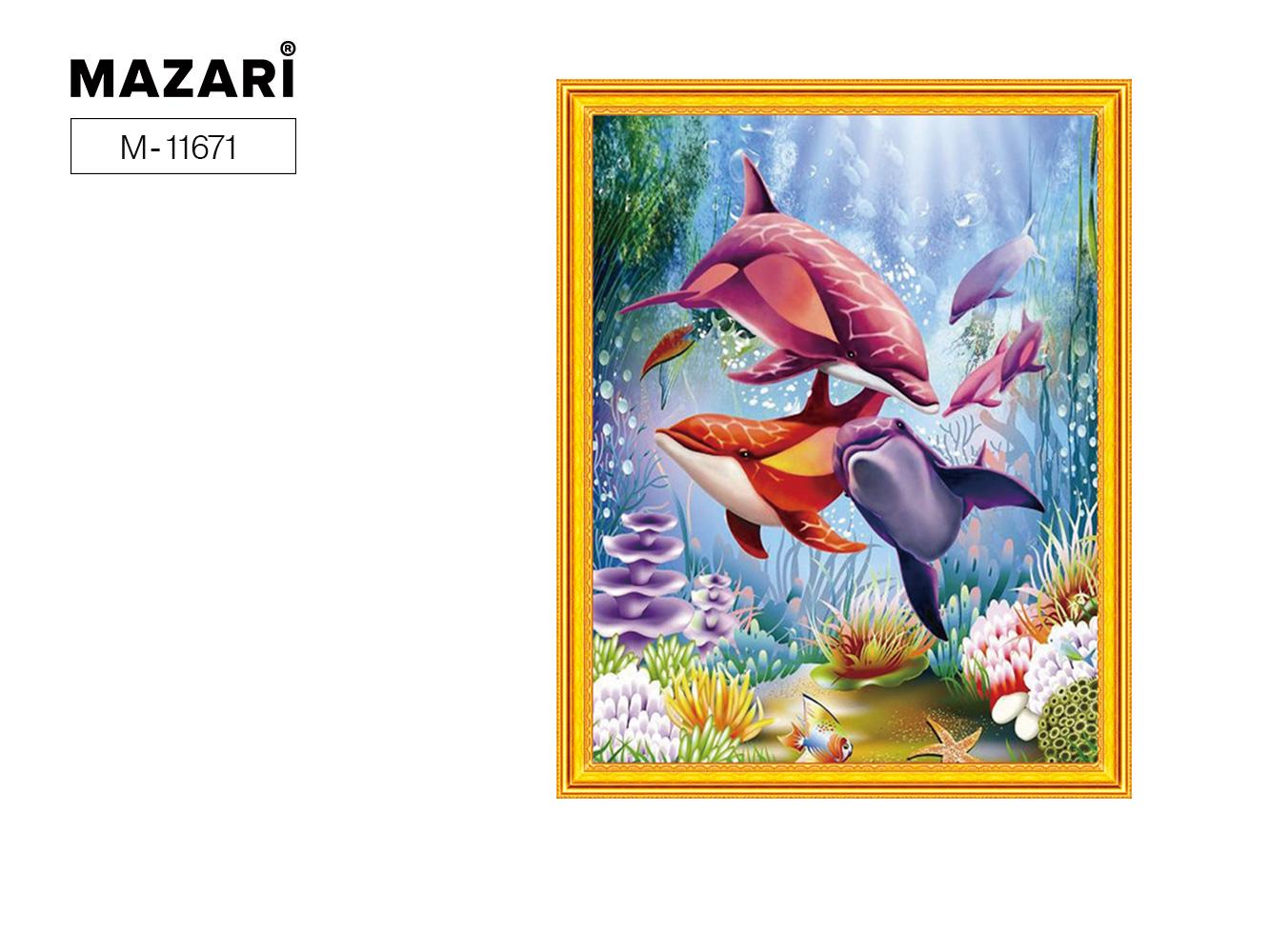 Алмазная мозаика и картина по номерам 40*50см Морская жизнь