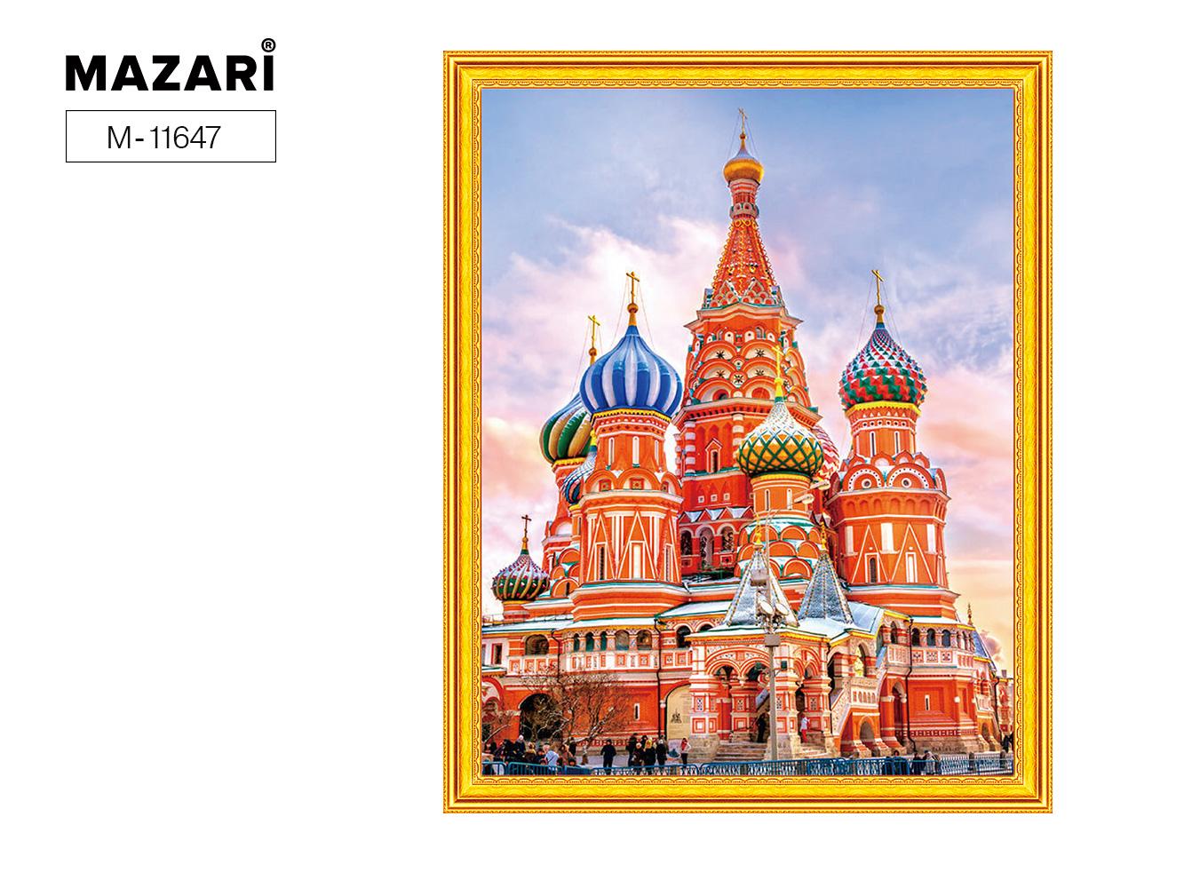 Алмазная мозаика и картина по номерам 40*50см Собор на Красной площади