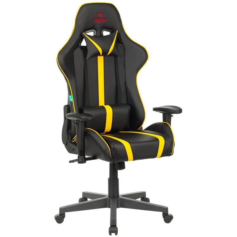Кресло игровое Zombie VIKING ZOMBIE YEL экокожа черный/желтый