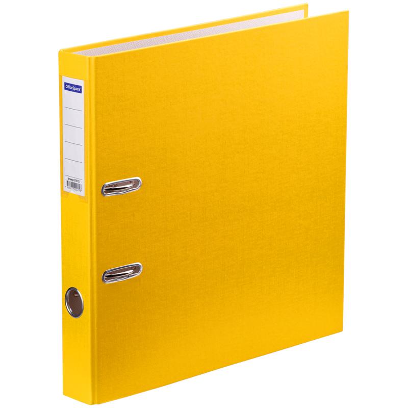 Папка регистр. OfficeSpace 50мм бумвин. желтая
