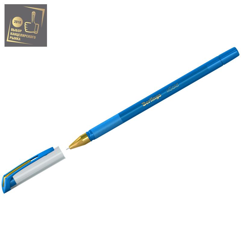 Ручка Berlingo xGold  0,7мм игол.нак. голубая