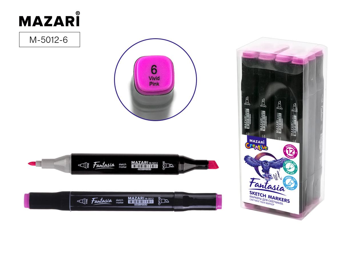 Маркер д/скетчинга двустор. 3,0-6,2мм Fantasia vivid pink