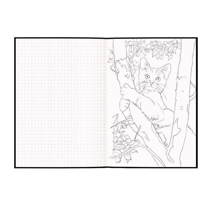 """Скетчбук А5 56л тв.обл. краф+черн. Феникс+ """"Кошка"""" 80-120г/м2"""