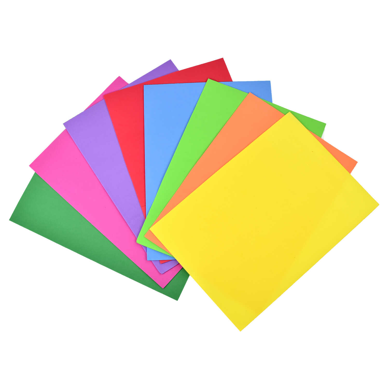 Цвет.бумага А4 Феникс+ EVA 8цв супертонкая 1мм