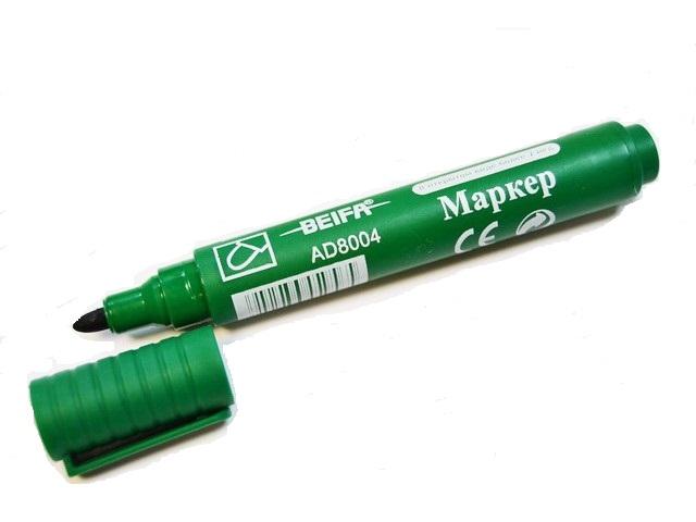 Маркер перман. Beifa 2мм зеленый