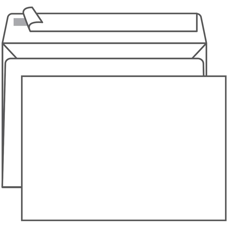 Конверт С4 (229*324) белый с отр. полосой