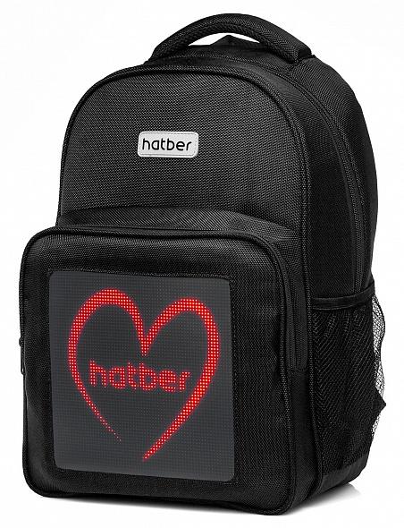 Рюкзак Хатбер LED Joy 1 отд. 3 кармана+отд. для ноутб. черный