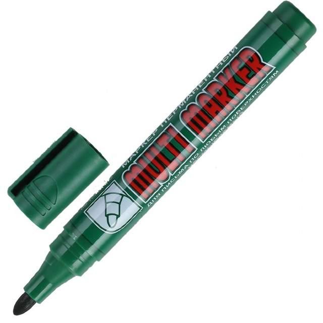 Маркер перман. Crown Multi marker 3мм зеленый