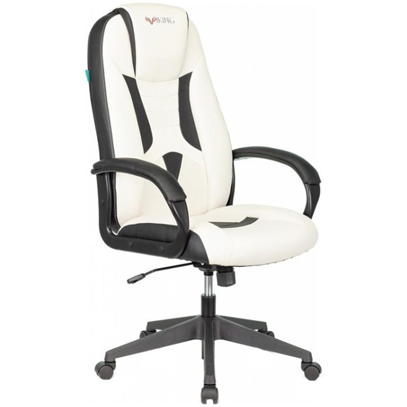 Кресло игровое Zombie VIKING-8/VIKING-8N/WH-BLACK экокожа черный/белый