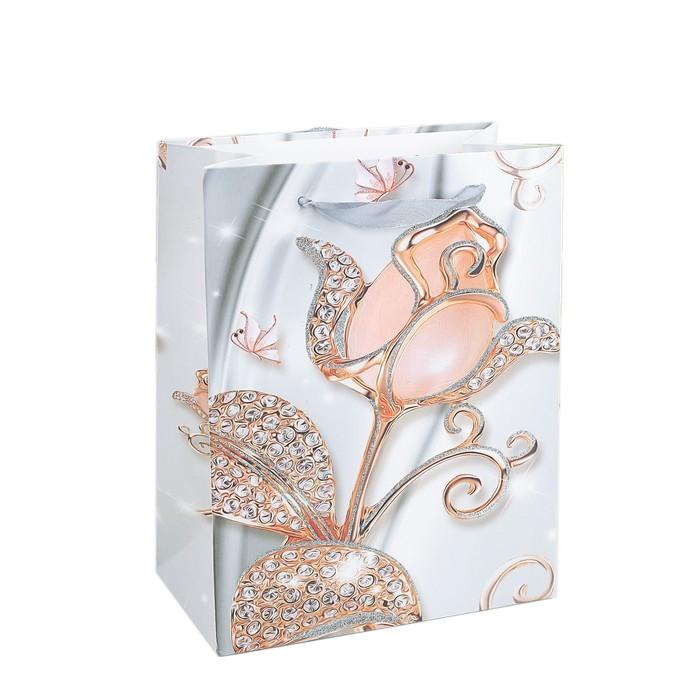 Пакет бум. 18*23*10см Роскошные цветы