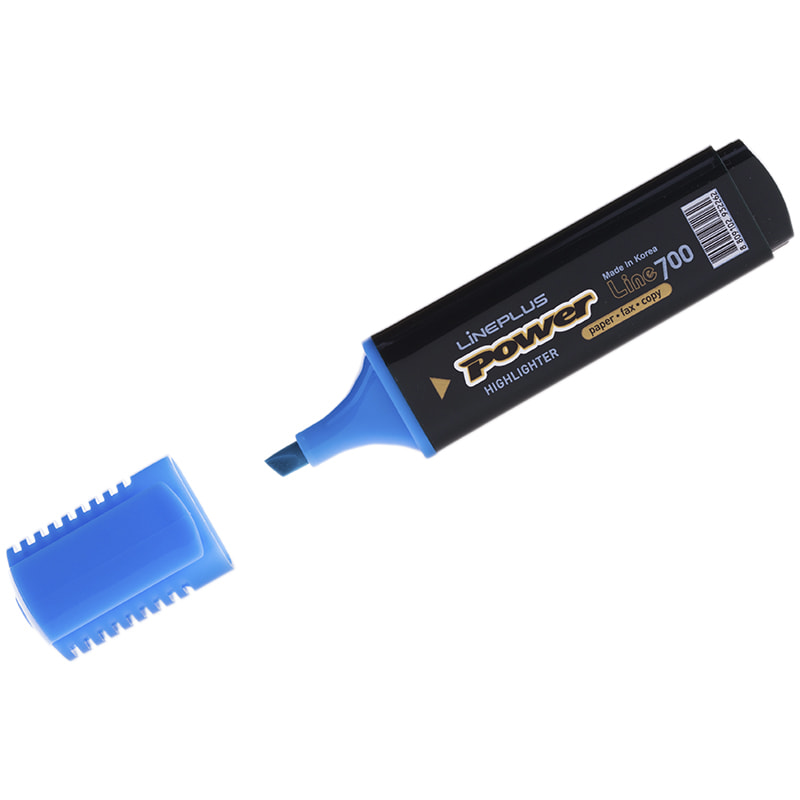 Текстовыделитель Line Plus 5мм голубой