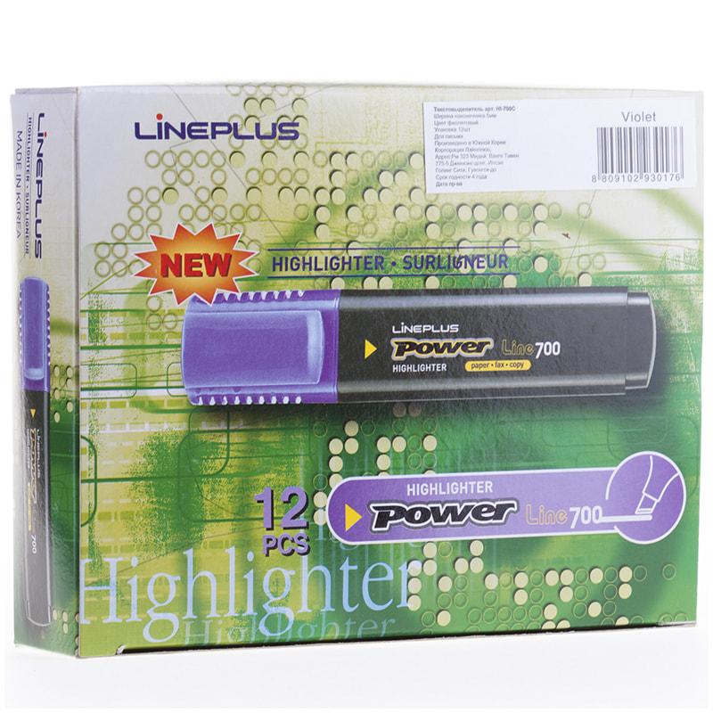 Текстовыделитель Line Plus 5мм фиолетовый