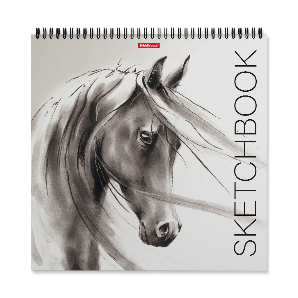 """Скетчбук 29,5*29,5см 40л гр.  ErichKrause """"Wild horse"""" 120г/м2"""