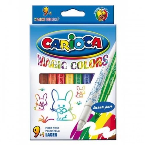 """Фломастеры Carioca 10цв. """"Magic Colors"""" смываемые к/у"""