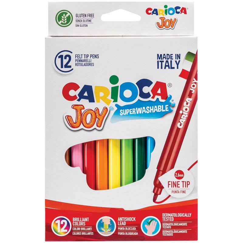 """Фломастеры Carioca 12цв. """"Joy"""" к/у"""