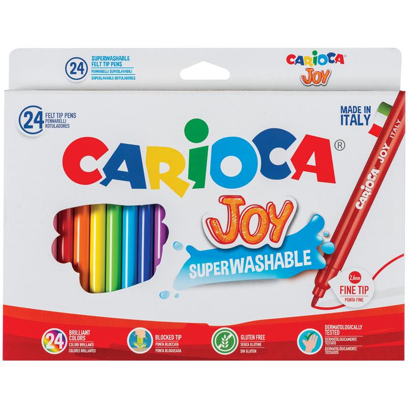 """Фломастеры Carioca 24цв. """"Joy"""" к/у"""