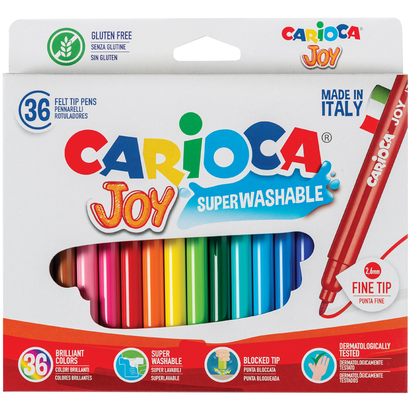 """Фломастеры Carioca 36цв. """"Joy"""" к/у"""