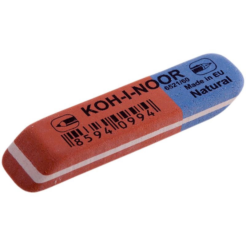 Ластик KOH-I-NOOR 6521/60 красно-синий