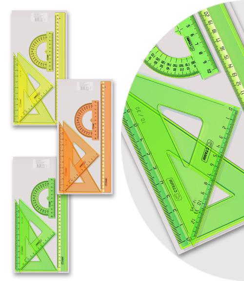 Линейки набор СТАММ большой Neon Cristal