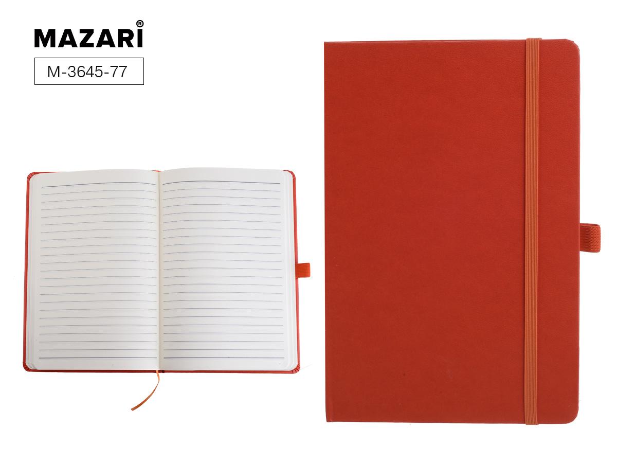 "Бизнес-блокнот А5 72л Mazari""Constant"" оранж.тв.обл.под логотип"