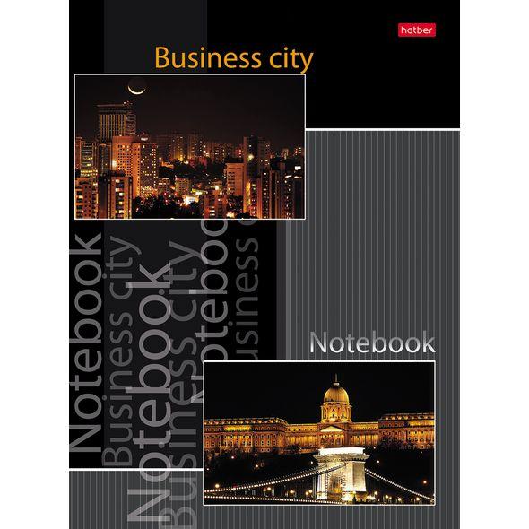 """Бизнес-блокнот А5 80л Хатбер """"Business city"""" 5цв.блок"""