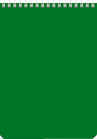 Блокнот А5 60л Хатбер гр. Зеленый