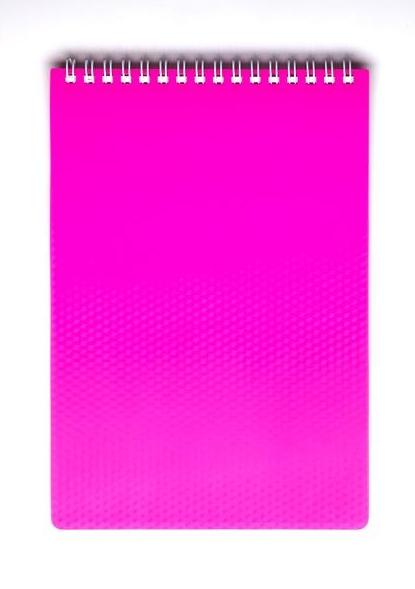 """Блокнот А5 80л Хатбер гр. """"Diamond Neon"""" Розовый пласт.обл"""