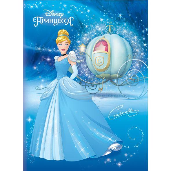 """Блокнот А6 32л Хатбер лам. """"Принцессы"""" (Disney)"""