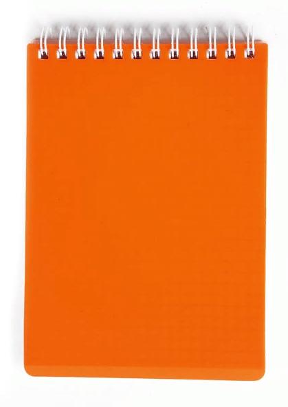 """Блокнот А6 80л Хатбер гр. """"Diamond Neon"""" оранж. пласт.обл."""