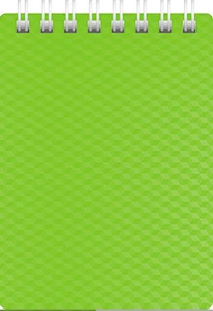 """Блокнот А7 80л Хатбер гр. """"Diamond Neon"""" зеленый пласт.обл."""