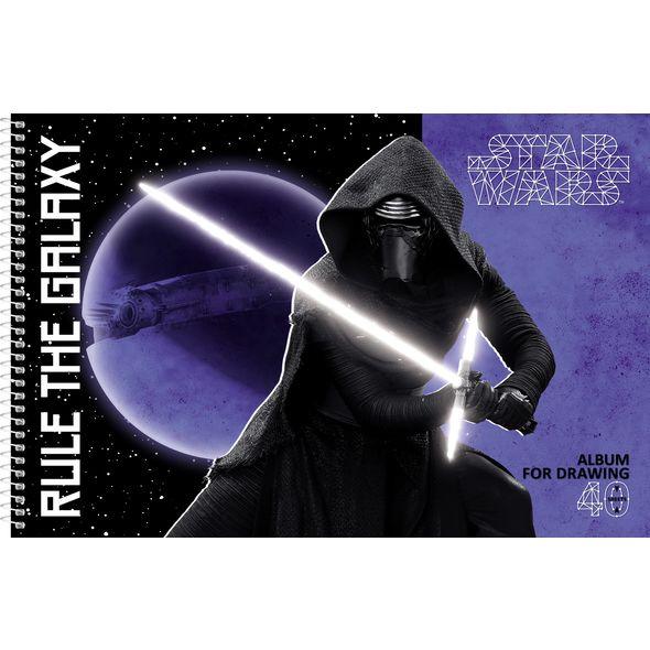 "Альбом д/рис. 40л Хатбер спир. перф. ""Звездные войны""(Lukas Star Wars )"