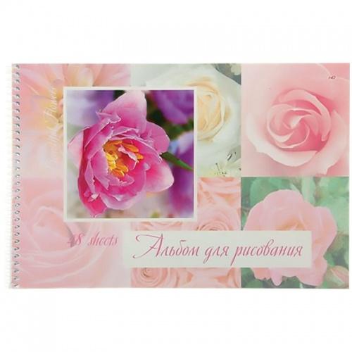 """Альбом д/рис. 48л Хатбер спир. перф. HD """"Прекрасные цветы"""""""