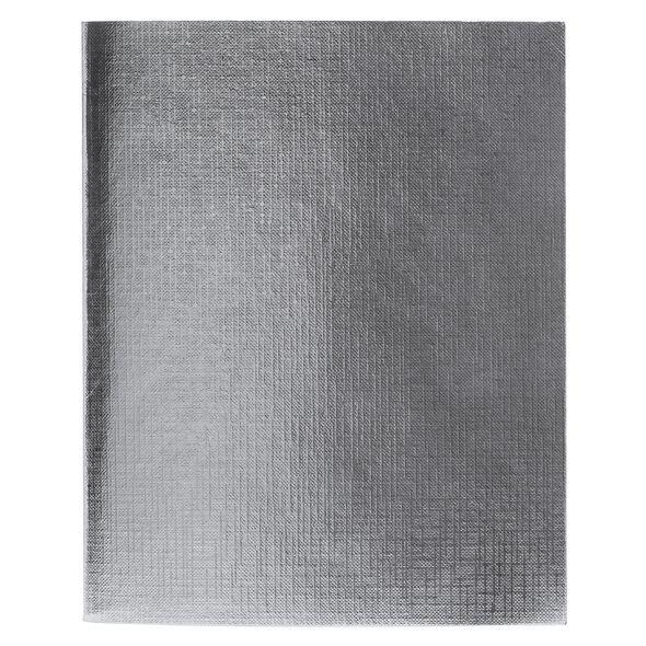 Тетр. 96л бумвин. Хатбер Metallic серебро