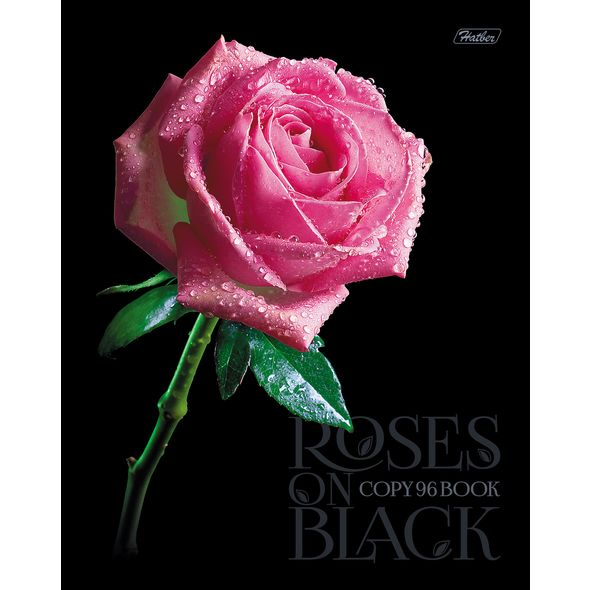"Тетр. 96л Хатбер 3Dлак ""Roses on black"""