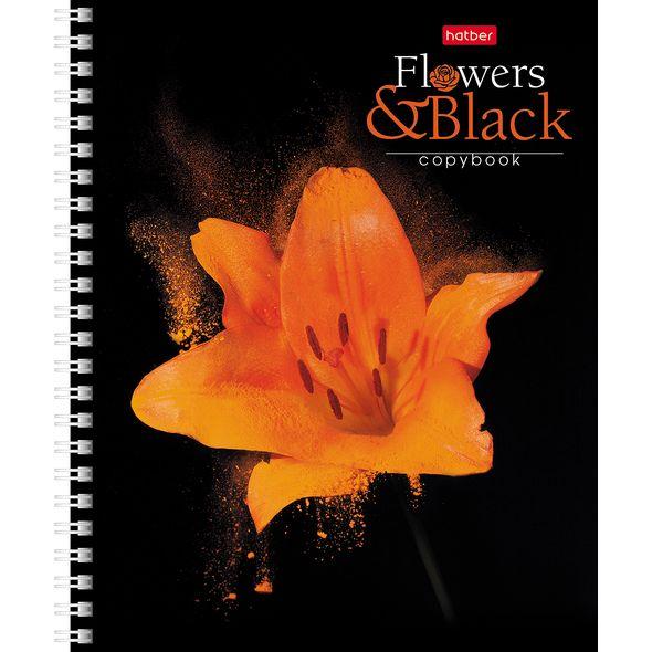 """Тетр. 96л Хатбер гр. """"Flower on black"""""""