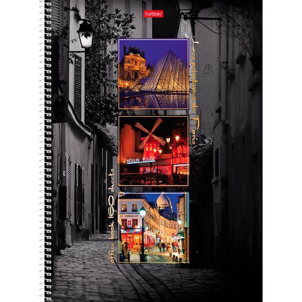 "Тетр. А4 160л Хатбер гр. тв.обл. ""Краски Парижа"""
