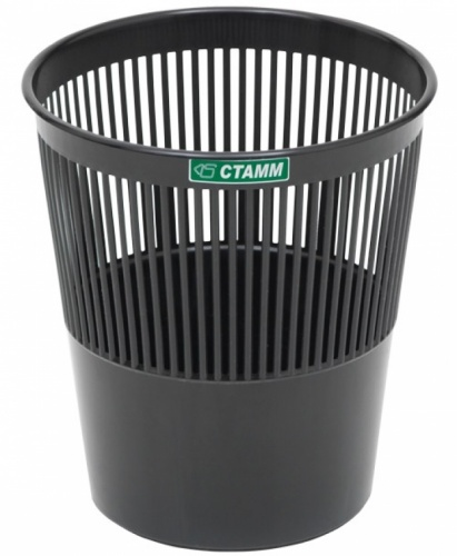 Корзина д/бумаг СТАММ  9л сетчатая черная