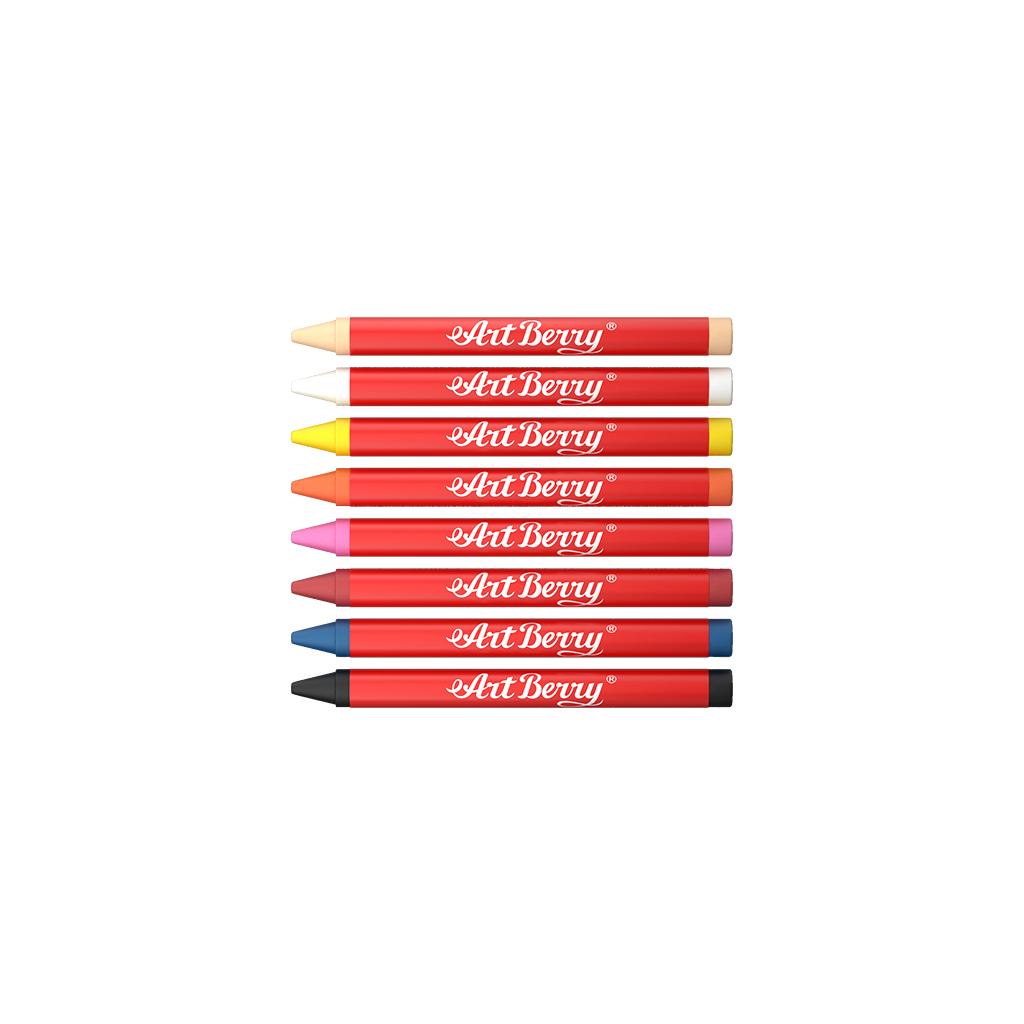 Мелки восковые ArtBerry  8 цветов