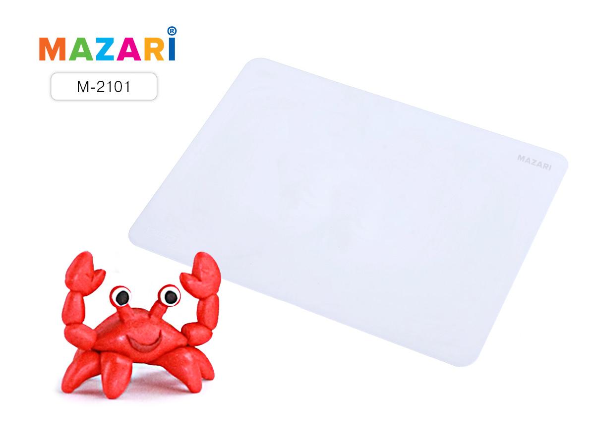 Доска для лепки А4 Mazari пластиковая 1мм цв.белый
