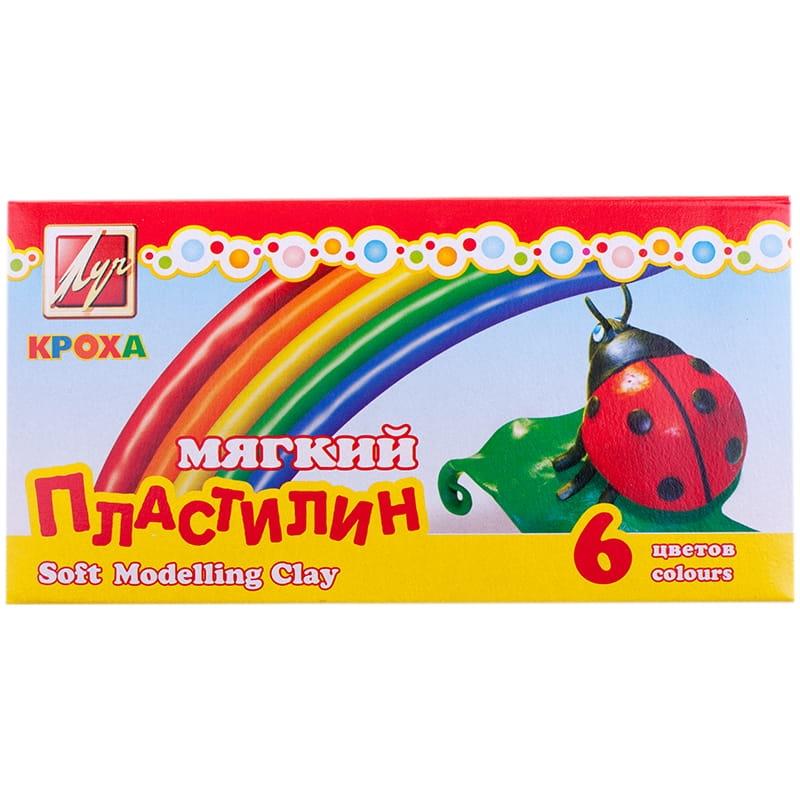 """Пластилин  6цв. Луч """"Кроха"""" 165г со стеком"""