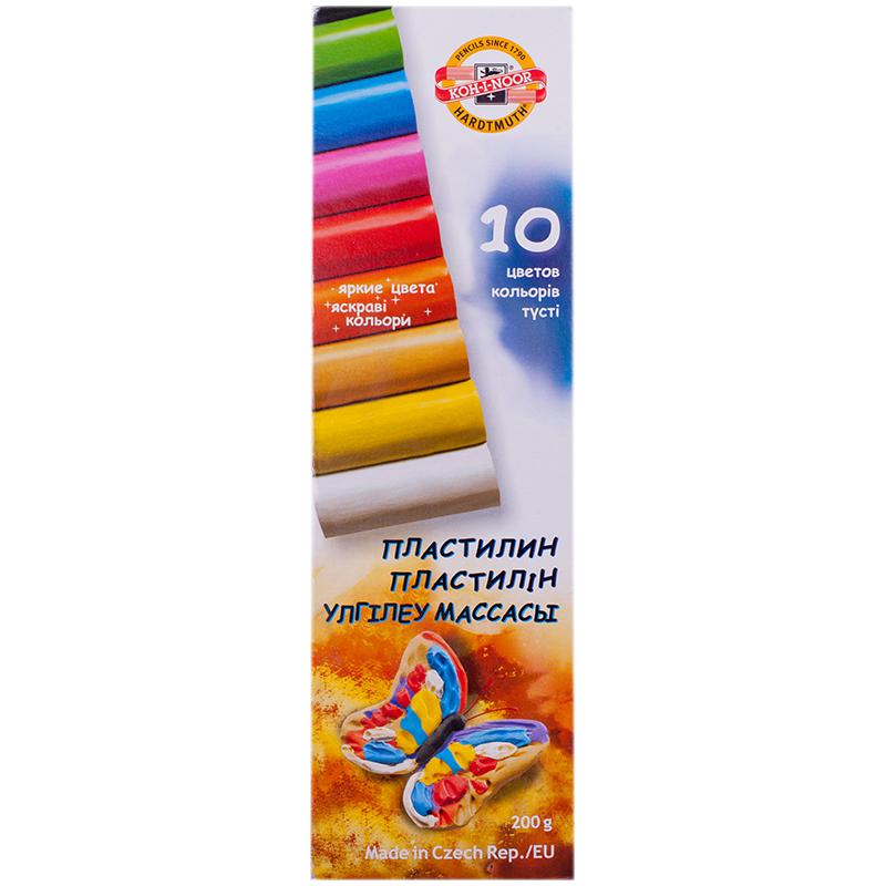 Пластилин 10цв. KOH-I-NOOR 200г