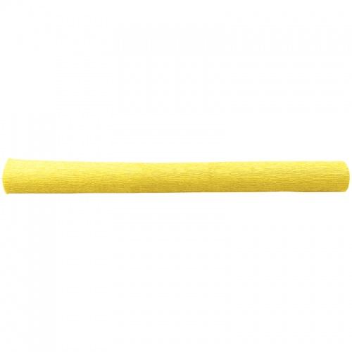 Бумага креповая 50*250 128г/м флористич. св-желтая